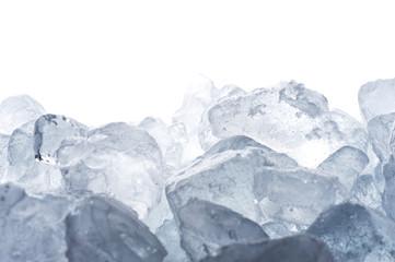 白背景に氷の集合