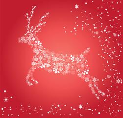 vector christmas snow reindeer