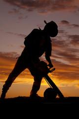 silhouette chainsaw down