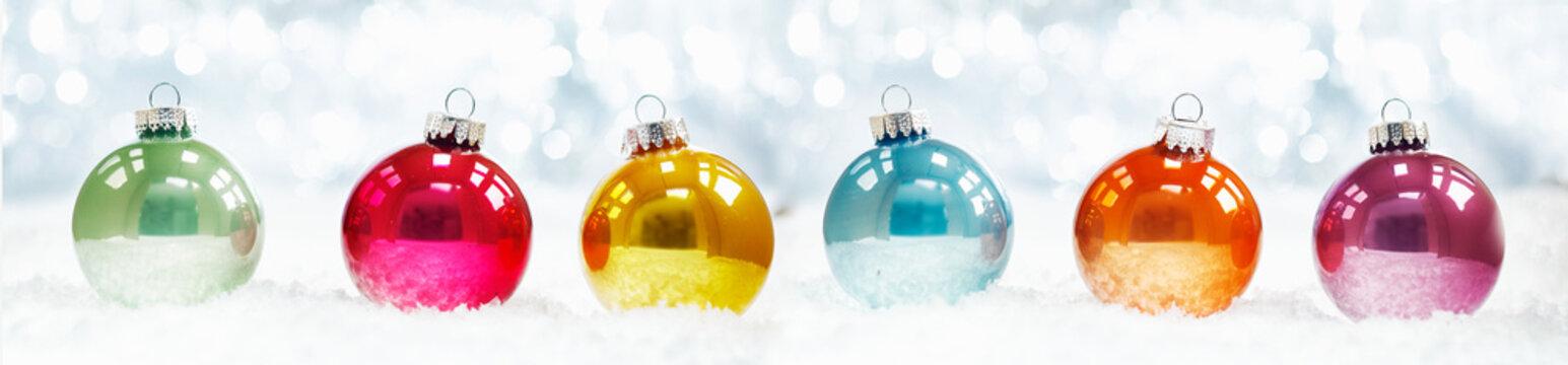 Beautiful shiny Christmas ball banner
