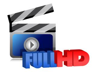 Full HD video sign illustration design