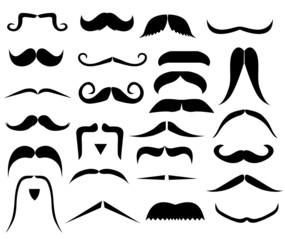 Set of moustaches