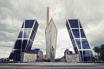Modern Architecture in Madrid (Puerta de Europa)