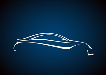 Mavi fondaki estetik logo
