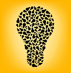 bulb consisting bulbs, vector illustration