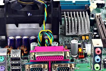 Computer hardware closeup