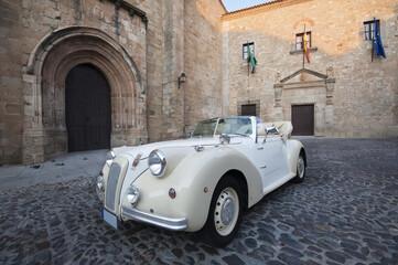 Foto op Plexiglas Oude auto s Vintage Wedding Car