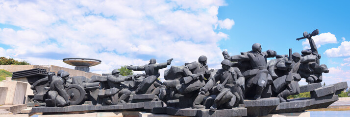 Memorial to Soviet soldiers during WW2