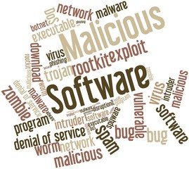 Word cloud for Malicious Software