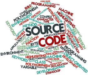 Word cloud for Source Code