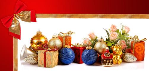 Addobbi di Natale con Fiocco rosso