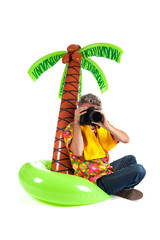 Tourist on tropical vacation