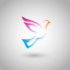 flying bird (vector object)