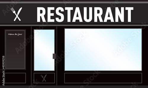 vitrine restaurant photo libre de droits sur la banque d. Black Bedroom Furniture Sets. Home Design Ideas