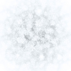 Christmas snowflakes and light vector background