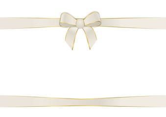 Schleifenband in beige
