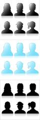 Profile Icons Shapes Vectors