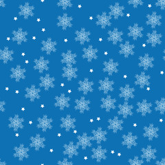 vector winter pattern with snowflakes for your design