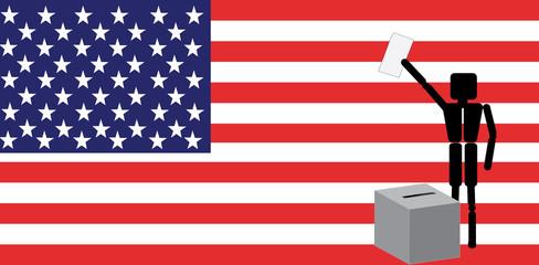 man voting in america