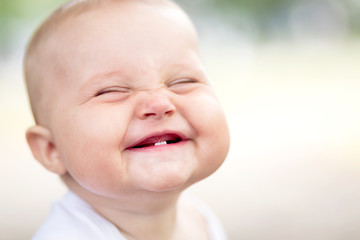 Beautiful smiling cute baby