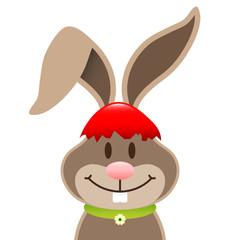 Easter Bunny Red Eggshell