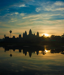 Angkor Wat temple at sunrise, Cambodia