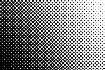 Trame dégradée pointillée noir et blanc