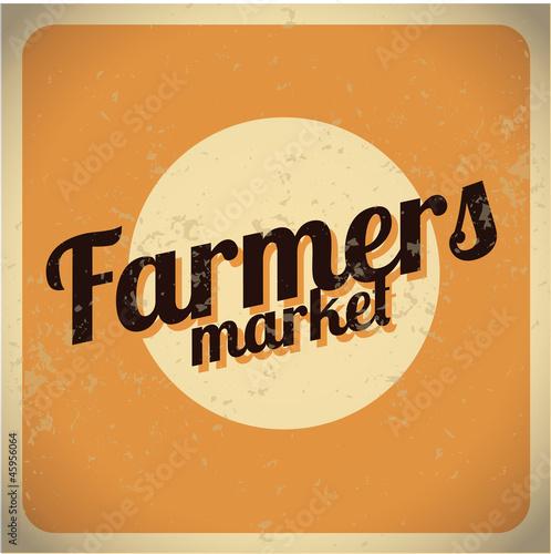 "Vintage Farmers Market Sign ""Farmers Market v..."