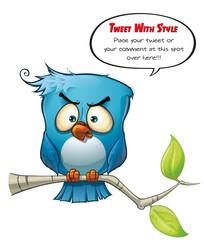 Tweeter Blue Bird Wrathful