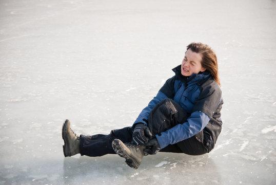 Ankle injury - winter slip
