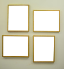 Gallery room with empty frames