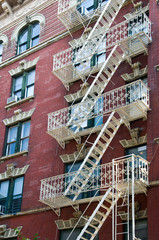 Wall Mural - Escalier de secours à Greenwich Village - New York, USA