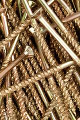 Close-up of male screws