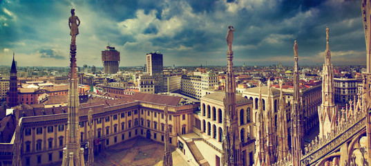 In de dag Milan Milan, Italy. City panorama. View on Royal Palace