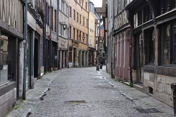 Rue Damiette à Rouen (Seine-Maritime)