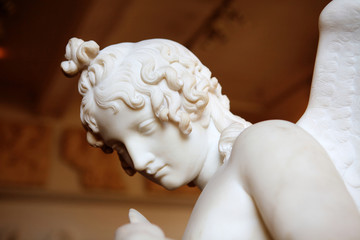 Antique marble angel sculpture
