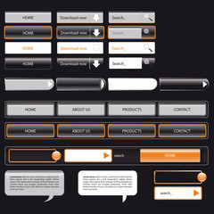 webtemplate black and orange