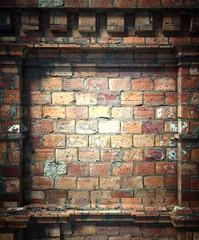 3d brick wall, antique architecture background