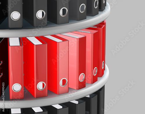 aktenordner regal rund stockfotos und lizenzfreie bilder auf bild 45995433. Black Bedroom Furniture Sets. Home Design Ideas