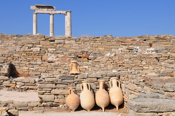 island Delos,archelogical site in Greece