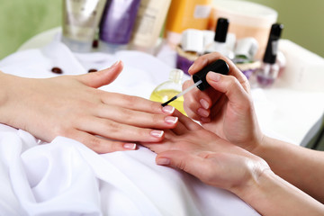 Female hands and manicure related objects