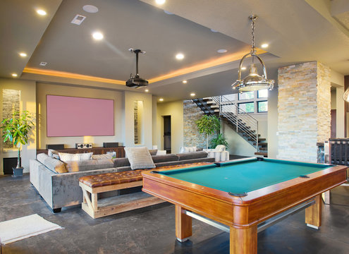 Entertainment Room in Modern Home