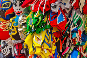 Zelfklevend Fotobehang Paradijsvogel Wrestling masks