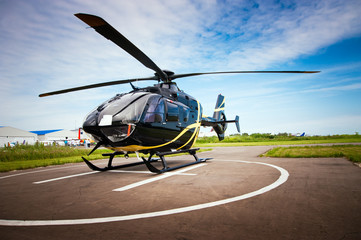 Deurstickers Helicopter Light helicopter for private use
