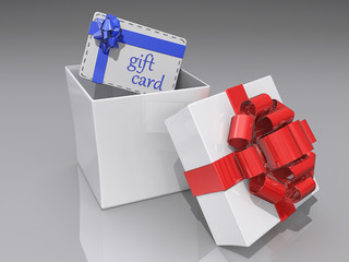 Open Gift Box and Gift Card