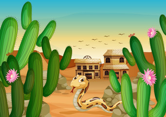 Printed kitchen splashbacks Wild West a zoo and the animals