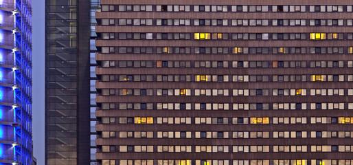 Treppenhaus Gebäude Fensterfront