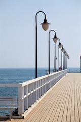 Deurstickers Pier Wooden pier