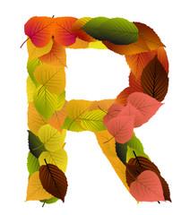 Buchstabe aus Blättern - R