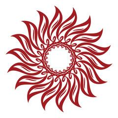 Sunflower Interlaced Ornament